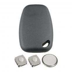 2 Button Remote Key Fob Case DIY Repair Kit for Renault Traffic Kangoo Master 2