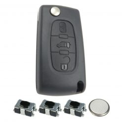 3 Button Remote Key Fob Case Repair Kit for Citroen Peugeot VAN Berlingo Dispatch HU83