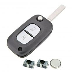 2 Button Remote Car Key Fob Case Repair Kit for Renault Clio Master Kangoo Modus 3