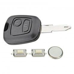 2 Button Remote Key Fob Case Refurbishment Repair Kit For Peugeot 106 206 306 2