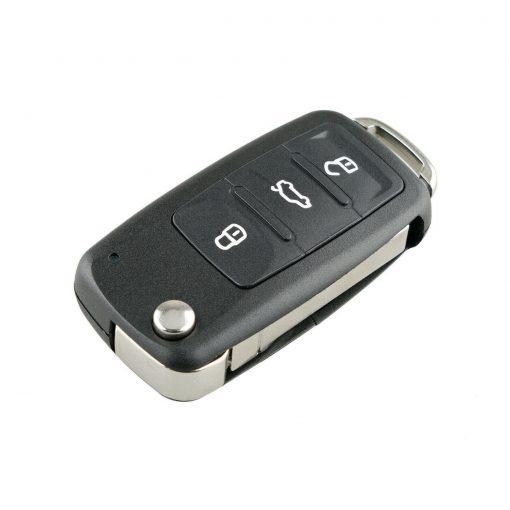 3 Button Remote Flip Key Fob Case Shell w/ Logo for Volkswagen VW Touareg 2002 - 2010 6