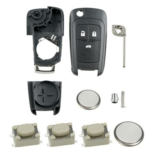 3 Button Remote Key Fob Case Repair Kit for Vauxhall Opel Astra J Insignia A Cascade 2