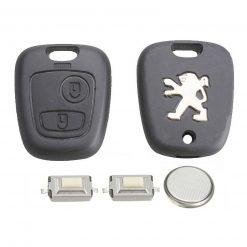2 Button Remote Key Fob Case Repair Kit for Peugeot 207 307 w/ Logo 4