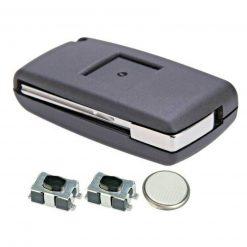 2 Button Replacement Remote Key Fob Case Repair Kit for Citroen Dispatch C8 2
