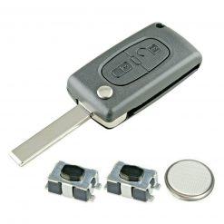 2 Button Replacement Remote Key Fob Case Repair Kit for Citroen Dispatch C8