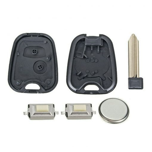 2 Button Remote Key Fob Case FULL Repair Kit Fits Citroen Xsara Picasso Berlingo