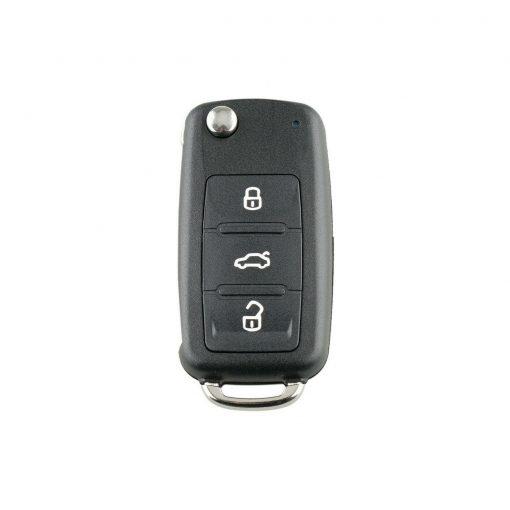 3 Button Remote Flip Key Fob Case Shell w/ Logo for Volkswagen VW Touareg 2002 - 2010 5