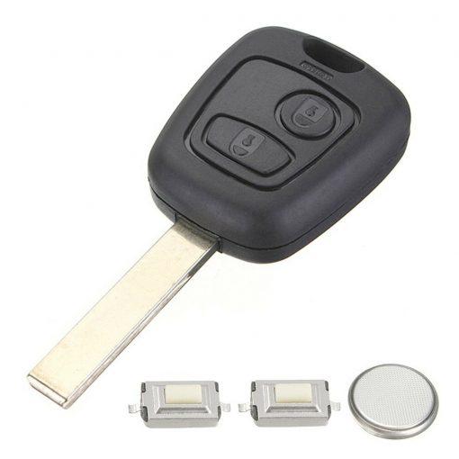 2 Button Remote Key Fob Case Repair Kit for Peugeot 207 307 w/ Logo 1