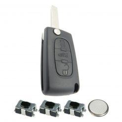 3 Button Remote Key Fob Case Repair Kit for Citroen Peugeot VAN Berlingo Dispatch HU83 5