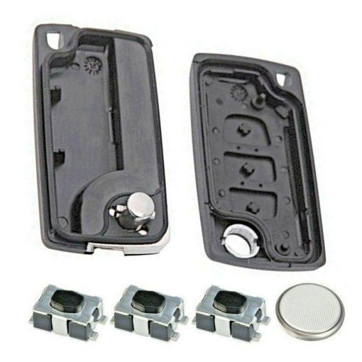 3 Button Remote Key Fob Case Repair Kit for Citroen Peugeot VAN Berlingo Dispatch HU83 2