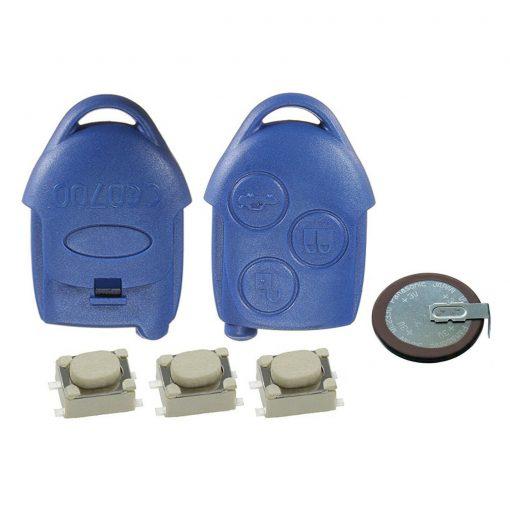 Blue Remote Key Fob Case Battery VL2330 Repair Kit Ford Transit MK7 4