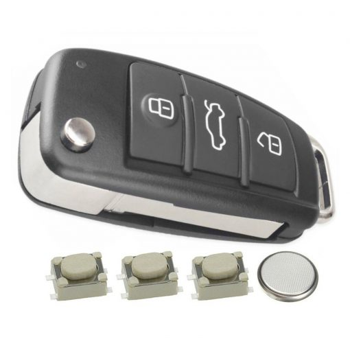 3 Button Remote Car Key Fob Case Cover DIY Service Repair Kit for Audi A3 A4 A6 Q7 TT