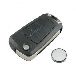 2 Button Remote Car Key Fob Case w/ Battery for Vauxhall Opel Corsa Astra