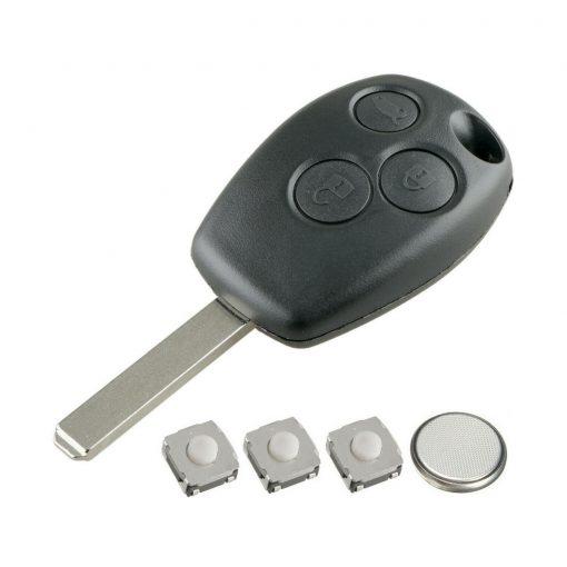 3 Button Remote Key Fob Case Repair Kit For Renault Trafic Clio Master Kangoo