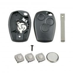 3 Button Remote Key Fob Case Repair Kit For Renault Trafic Clio Master Kangoo 2
