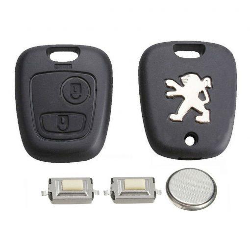 2 Button Remote Key Fob Case Refurbishment Repair Kit For Peugeot 106 206 306