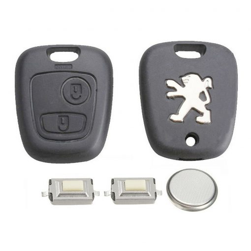 DIY Repair Kit 2 Button Remote Car Key Fob Case with Blade for Peugeot 107 207 307